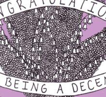 Congratulations - purple Sticker