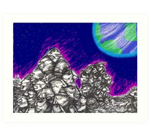 Waiting for the Resurrection (on the Moon) Art Print