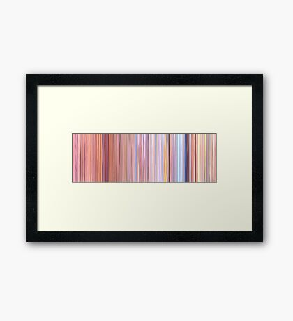 Moviebarcode: The Man Who Planted Trees / L'homme qui plantait des arbres (1988) Framed Print