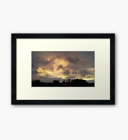 Cloud action #1 Framed Print