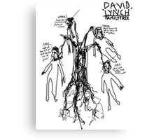 'David Lynch Family Tree' Canvas Print