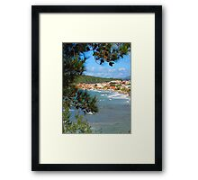 Waves Roll into Ozdere Framed Print