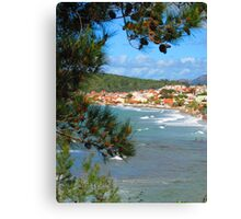Waves Roll into Ozdere Canvas Print