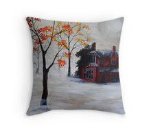 The Gardener's House Throw Pillow
