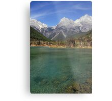Jade Dragon Snow Mountain Metal Print