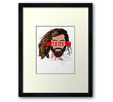 JESUS (OBEY) Framed Print