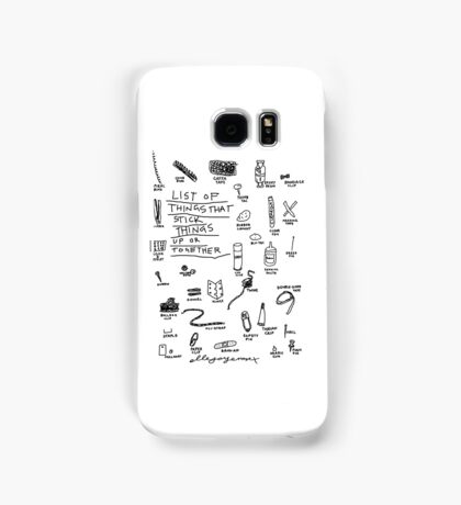 'List of Things that hold things Up or Together' Samsung Galaxy Case/Skin