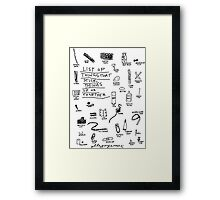 'List of Things that hold things Up or Together' Framed Print