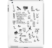 'List of Things that hold things Up or Together' iPad Case/Skin