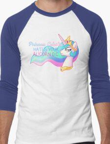 Celestia Hates Your Alicorn OC Men's Baseball ¾ T-Shirt