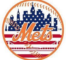 New York Mets Flag Logo by Jacob Sorokin
