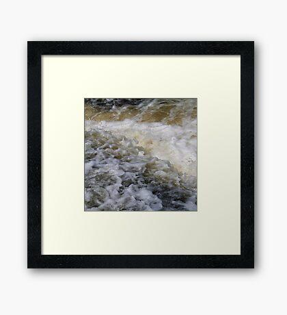 Foaming river Framed Print