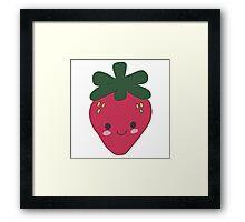 Strawberry Kawaii Design Framed Print