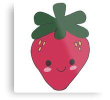 Strawberry Kawaii Design Metal Print