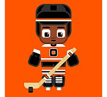 Ice Hockey Orange Photographic Print