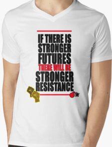 STRONGER FUTURES   STRONGER RESISTANCE Mens V-Neck T-Shirt