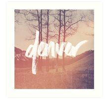 Denver Script Art Print