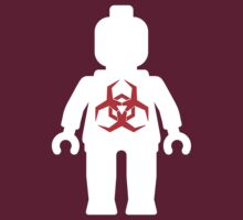 White Minifig with Radioactive Symbol by Customize My Minifig by ChilleeW