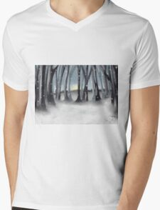 Winter Silence Mens V-Neck T-Shirt