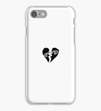 Safety Pin Heart iPhone Case/Skin