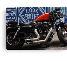 tough bike - looking terrific. Canvas Print