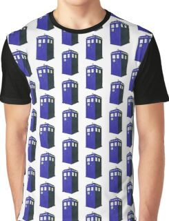 Tardis - Hand Drawn and Colored Graphic T-Shirt