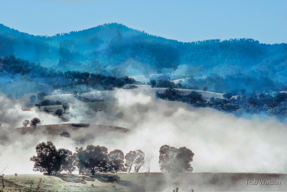 Morning mists over Dargo by Rob Watson