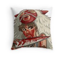 Mononoke's Bloody Knife Throw Pillow