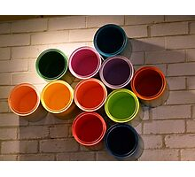 Buckets of Colour Photographic Print