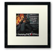 Happy N7 Day Framed Print