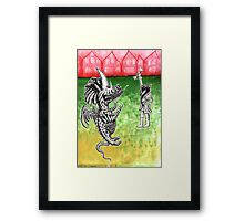 Wolf's Lesson - Keeping a Pet Framed Print