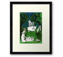 Wolf's Lesson - Nature Framed Print