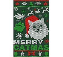 Merry Catmas Ugly Christmas Photographic Print