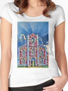 Mix up with the Stain Glass Company  Women's Fitted Scoop T-Shirt