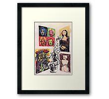 Wolf's Lesson - Art Framed Print