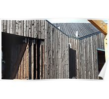 Wooden shack - near Falkirk, Scotland Poster