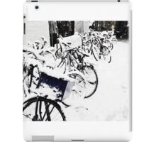 Snow Covered Bicycles iPad Case/Skin