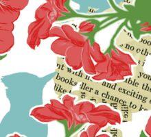 Geraniums and Blue Jays Sticker