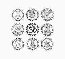 8 Auspicious Symbols Unisex T-Shirt