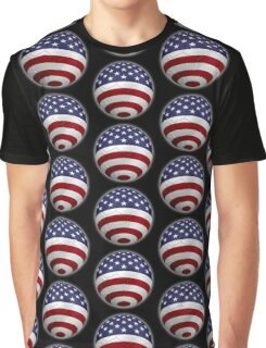USA - American Flag - Football or Soccer 2 Graphic T-Shirt