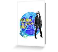 "Melinda ""The Cavalry"" May Grunge Greeting Card"