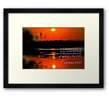 He stood before the LORD: Framed Print