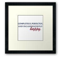 Happy - Pride & Prejudice Framed Print