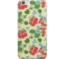 Geraniums and Blue Jays iPhone Case/Skin