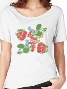Geraniums and Blue Jays Women's Relaxed Fit T-Shirt