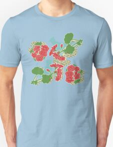 Geraniums and Blue Jays Unisex T-Shirt