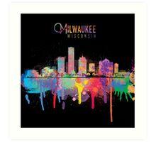 Milwaukee Skyline Art Print