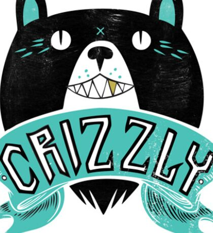 Crizzly Sticker Sticker