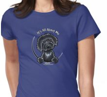Black Labradoodle :: It's All About Me Womens Fitted T-Shirt