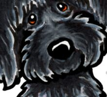 Black Labradoodle :: It's All About Me Sticker